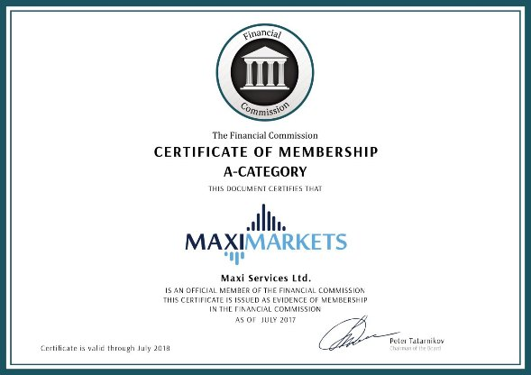 maximarkets_certificate