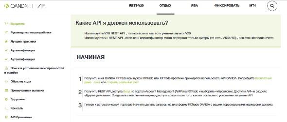 API Oanda